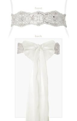 Tiffany Rose Besticktes Chiffon-Band Diamante Sash